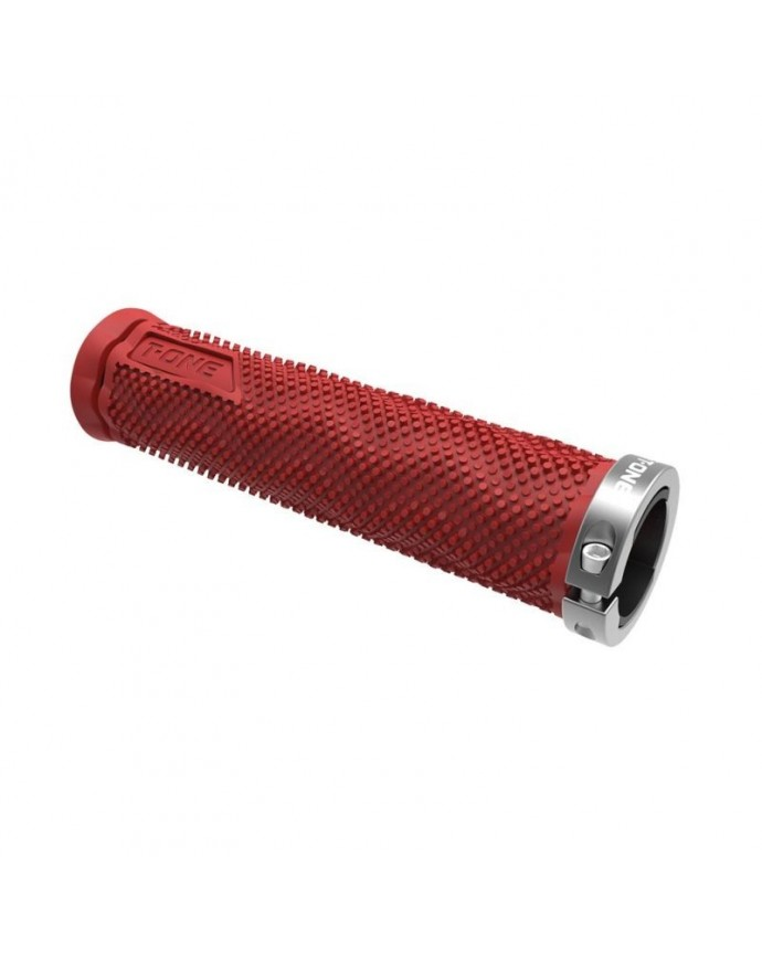 Grips Kit T-one Dot 130mm 1 Security Bolt  Red/Grey