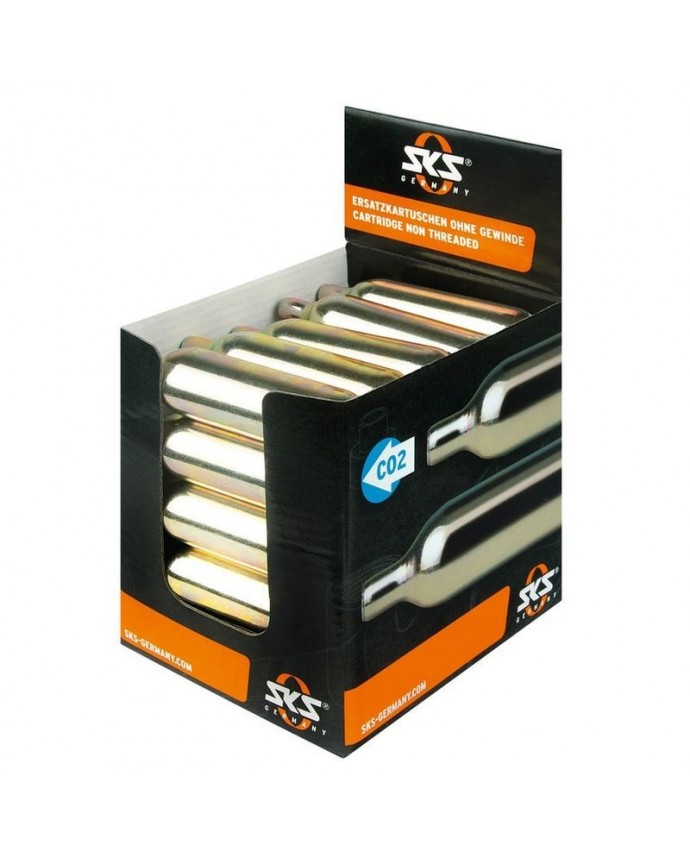 Display Co2 Cartridges 25 Cartridges 16g Individuals Without Thread