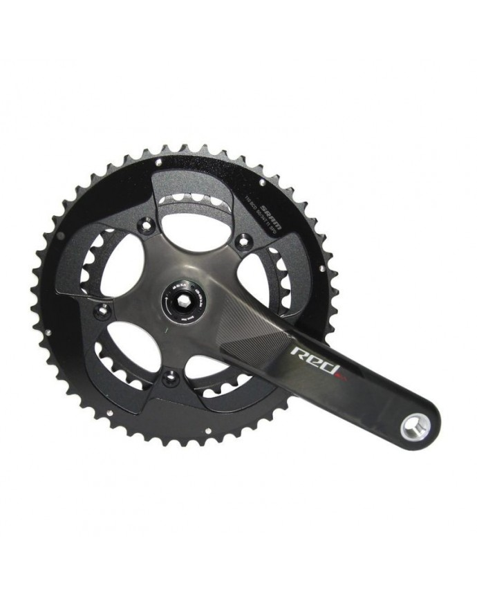 Sram Red BB30 CrankSet 175mm 36x46D11Sp Without Cups and Caps Carbon Black