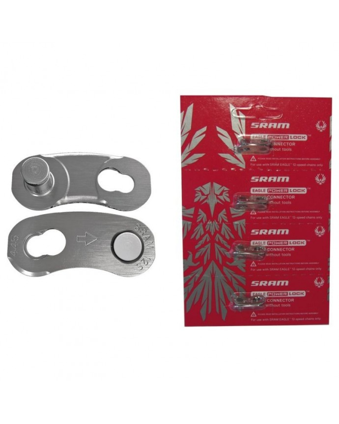 Sram Eagle 12Sp Silver Chain Withnector (4pcs)