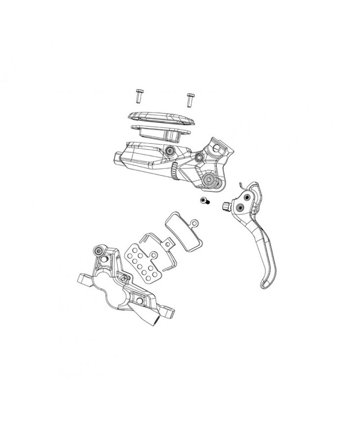 Replacement Kit Pistons Brake Disc Sram Guide R RS RSC (A1-B1) G2 RSC/Ultimate (A1)