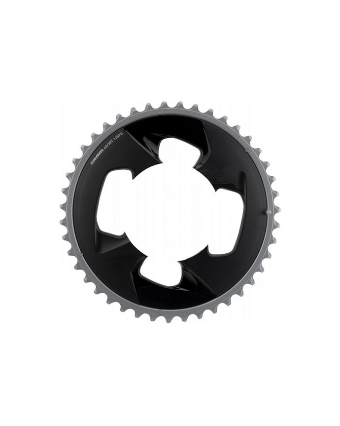 Chainring Sram Force Wide 43D 94 BCD 2x12Sp Grey Polar With Cubre Chainring