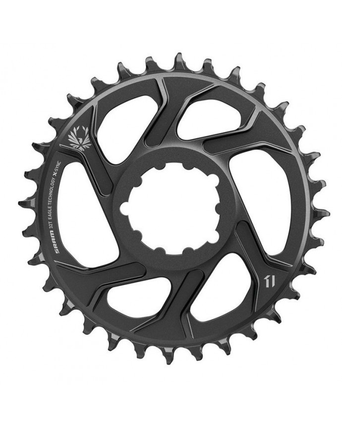 Chainring Sram X-Sync 2 Oval Eagle 38D Direct Mount 3 mm OffSet 12Sp Black