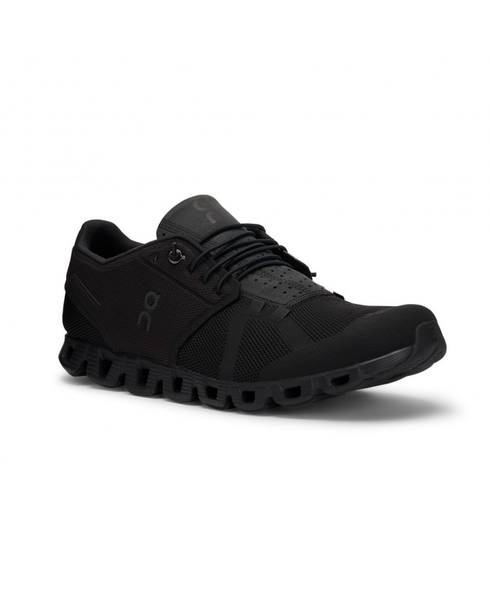 Cloud Running Shoes On Man All Black