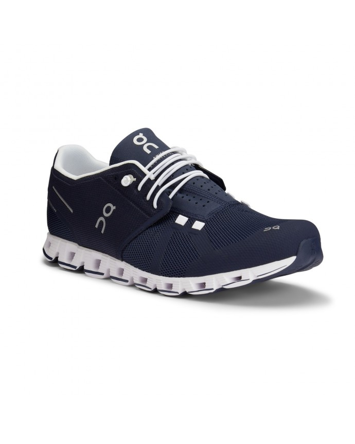 Cloud Running Shoes On Man Navy/White