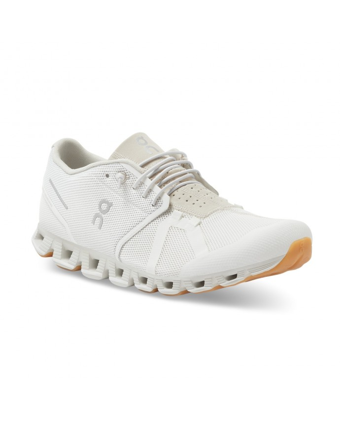 Cloud Running Shoes On Man White/Sand