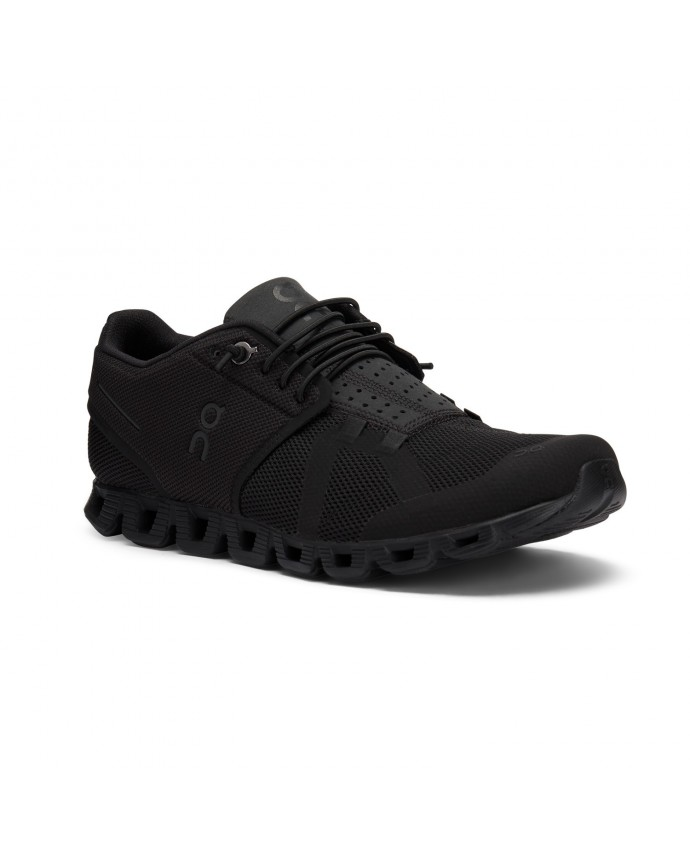 Cloud Running Shoes On Woman All Black