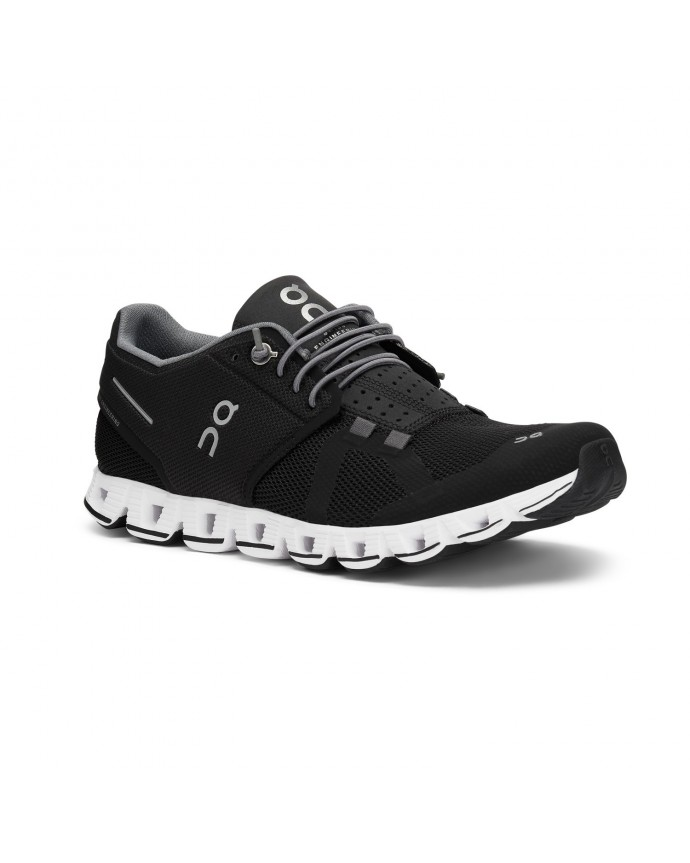 Cloud Running Shoes On Woman Black/White