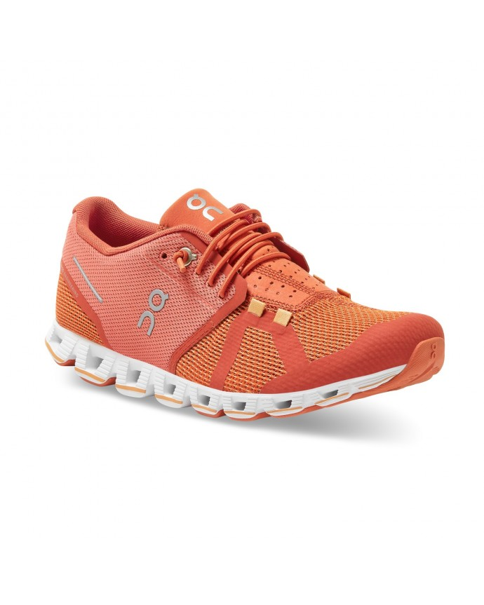 Cloud Running Shoes On Woman Chili/Rust