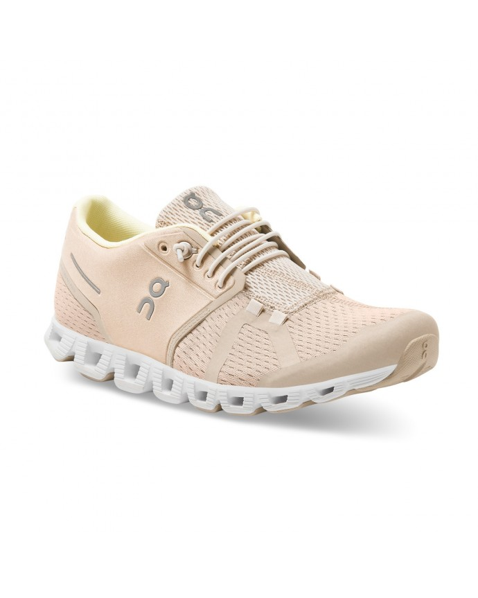 Cloud Running Shoes On Woman Sand/Pearl