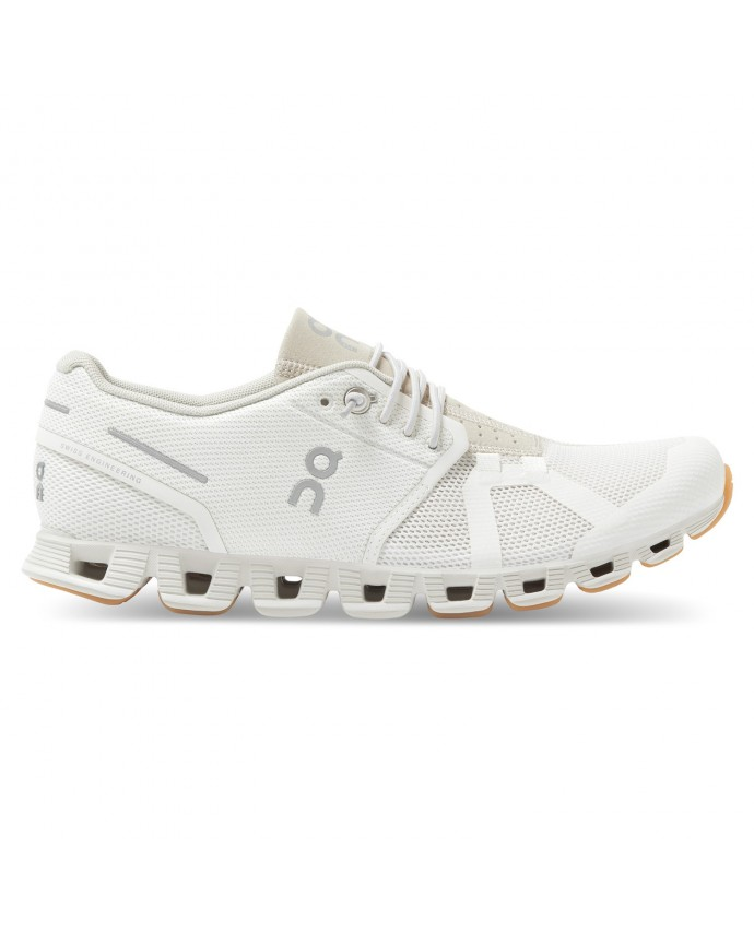 Cloud Running Shoes On Woman White/Sand