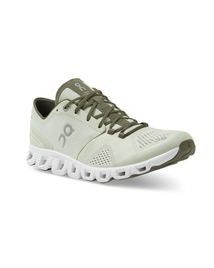 Cloud X Running Shoes On Man Aloe/White