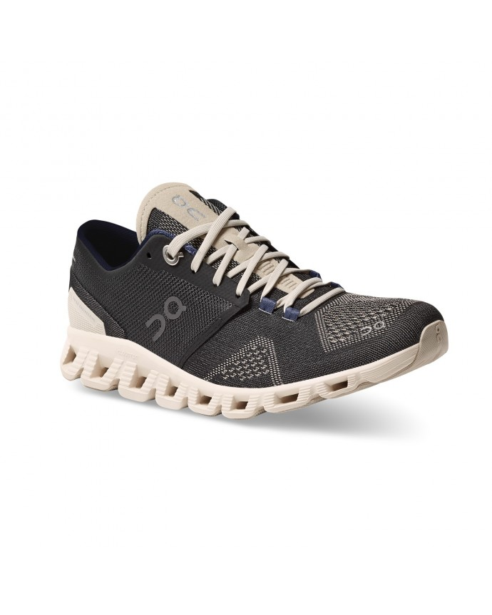 Cloud X Running Shoes On Woman Black/Pearl