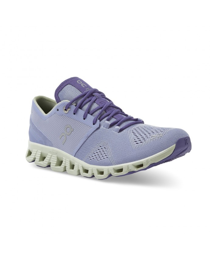 Cloud X Running Shoes On Woman Lavender/Ice