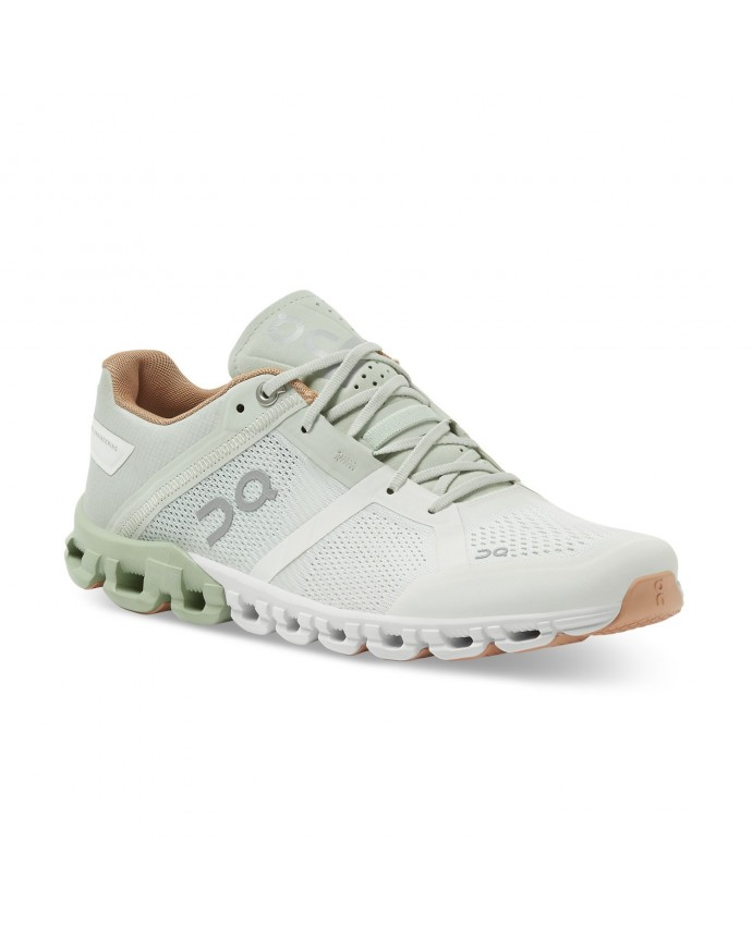 Cloudflow Running Shoes On Woman Aloe/White