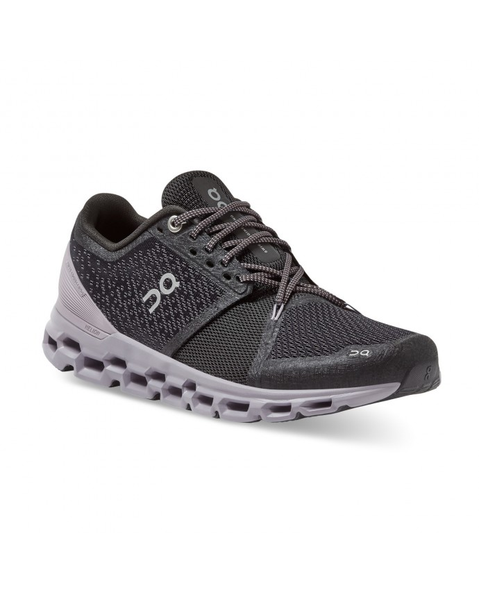 Cloudstratus Running Shoes On Woman Black/Lilac