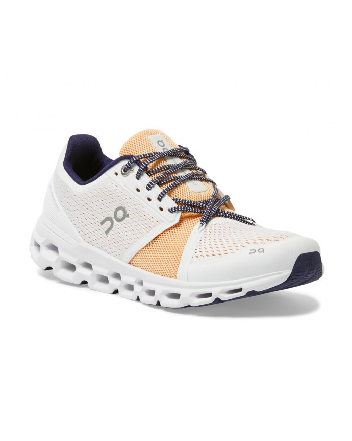 Cloudstratus Running Shoes On Woman White/Almond