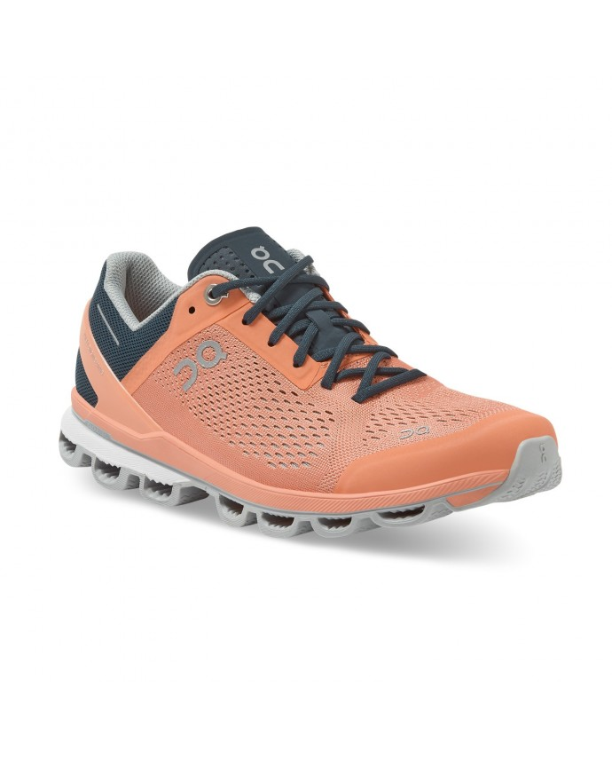 Cloudsurfer Running Shoes On Woman Coral/Navy