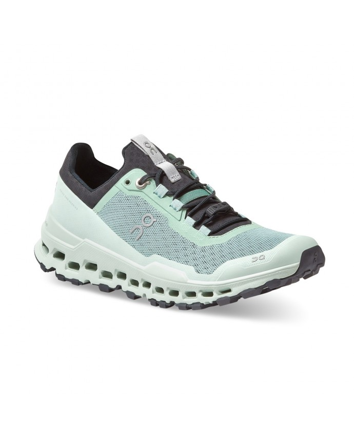 Cloudultra Running Shoes On Woman Moss/Eclipse