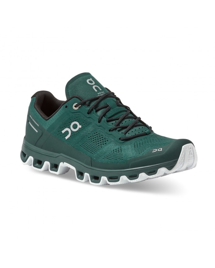 Cloudventure Running Shoes On Man Evergreen/White
